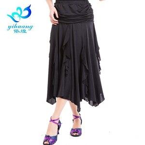 Image 5 - Darmowa wysyłka Ballroom Waltz spódnice do tańca nowoczesne standardowe Tango Salsa Samba Rumba praktyka kostiumy elastyczny pas #2547