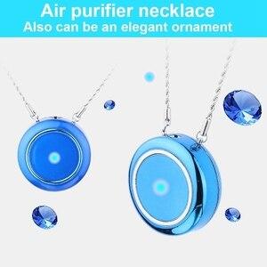 Image 1 - Персональный носимый очиститель воздуха ожерелье/Мини Портативный освежитель воздуха ионизатор/генератор отрицательных ионов/устранения запахов/удаления дыма