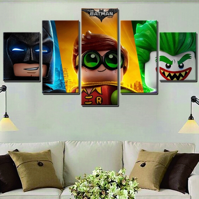Delightful Cute Lego Movie Poster Print On Canvas Waterproof Fashion Gifts For Kidu0027s  Bedroom Decor U0026 Home