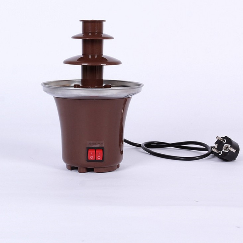 220V 3 Layers Mini Chocolate Fountains Mini Chocolate Waterfall Maker Machine With EU Plug For Home Outdoor Party