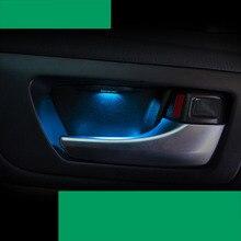 Lsrtw2017 светодио дный двери автомобиля атмосферу света для toyota highlander 2013 2014 2015 2016 2017 2018 2019 3rd поколения