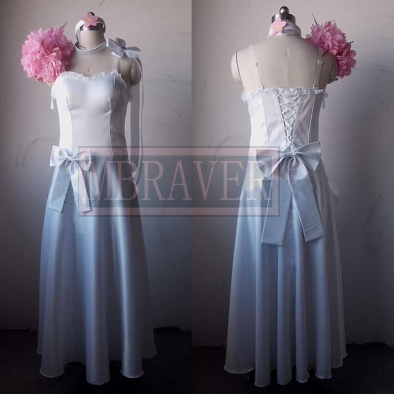 Fairy Tail Wedding Dress Anime Erza Scarlet Cosplay Costume Custom Made