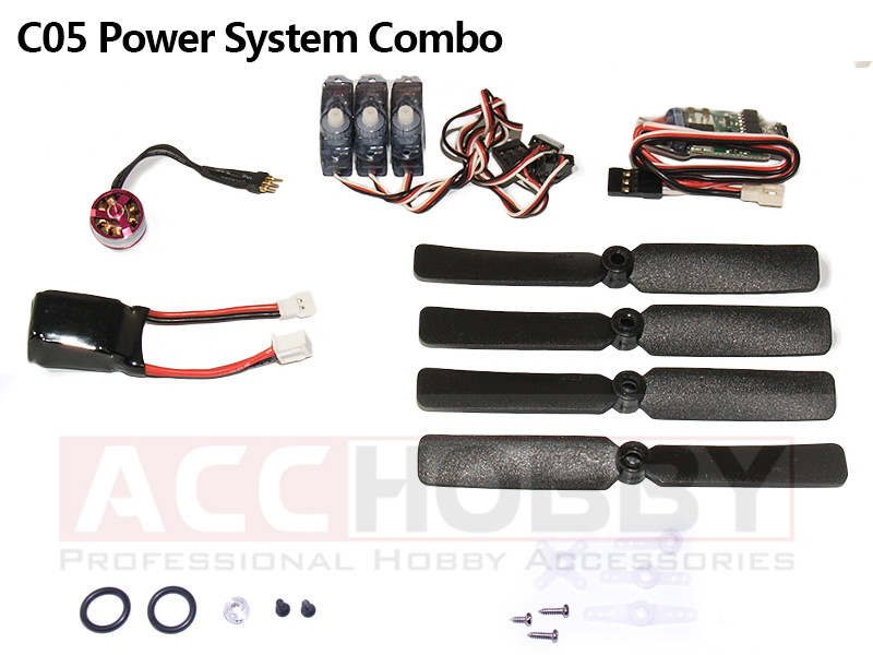 Micro Power System Combos,C05 (Including propeller saver,propeller,motor(KV 3700),ESC,servo,battery)