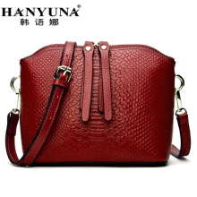 HANYUNA BRAND 2017 New Fashion Women Genuine Leather Shell Bags Casual Female Serpentine Shoulder Bags Ladies Totes
