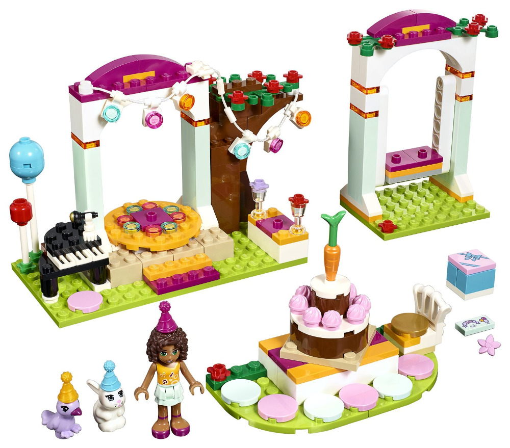 BELA Friends Series Birthday Party Building Blocks Classic For Girl Kids Model Toys Marvel Compatible Legoe