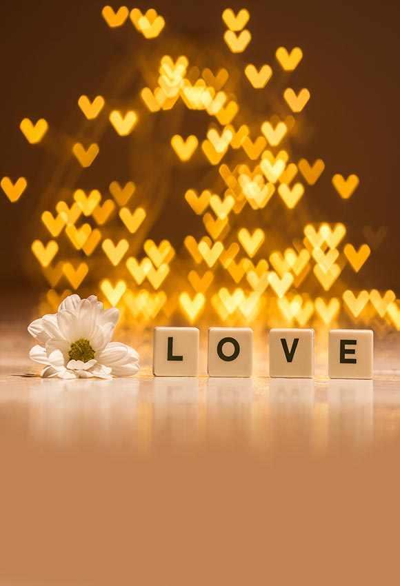 Telones de fondo de fotografía de vinilo con estampado de flores blancas para Bebés y Niños Accesorios para sesión de fotos foto de amor