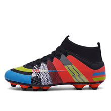 4fb3d403b1ae Newest Hot Sale Mens Big Size Soccer Cleats High Ankle Football Shoes Long  Spikes Outdoor Soccer