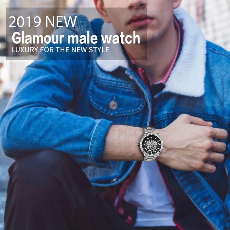 Image 5 - 2019 NAVIFORCE hommes montre de luxe Quartz Sport étanche militaire montre bracelet créatif horloge pleine acier montres Relogio MasculinoMontres à quartz   -