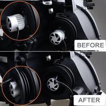 2 шт Водонепроницаемый светодиодный силиконовый налобный фонарь пылезащитный чехол для автомобильных фар