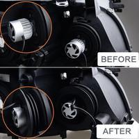 Neue 2PCS Wasserdichte LED Silikon Scheinwerfer Staub Abdeckung Staubdicht Auto Scheinwerfer-in Autozubehör aus Kraftfahrzeuge und Motorräder bei