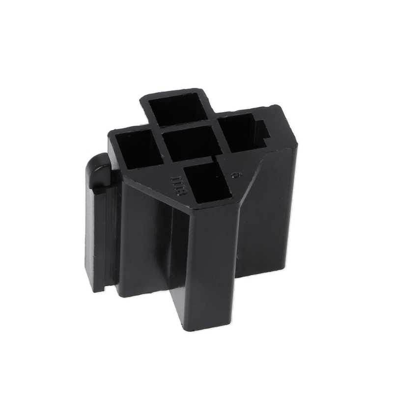 40A 5 Pin Relay Connector Socket with 5 x 6.3mm Terminals Car Truck Vehicle Relay Case Holder Apr 10