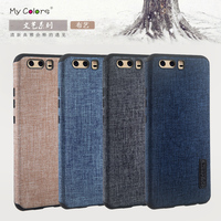 Case For Huawei Ascend P10 Cover Woven Fabric Denim Cloth Soft Silicone Casing Luxury Full Protector