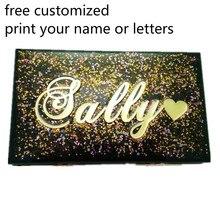 Luxe femmes lettres nom imprimer personnalisé acrylique pochette petit élégant sac à main fête mariage sacs à main sac chaîne sac de soirée