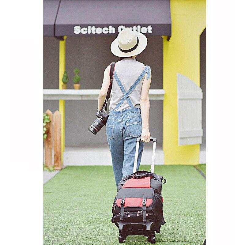 Форзаце FL-9076 # Цифровые зеркальные фотокамеры сумка тележка водонепроницаемый профессиональный большой емкости фотокамеры можно положить ...