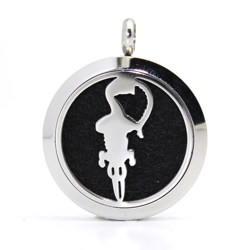 Fashion Hot Selling aromatherapy diffuser locket necklace pendant stainless steel essential oil locket pendant with felt pads