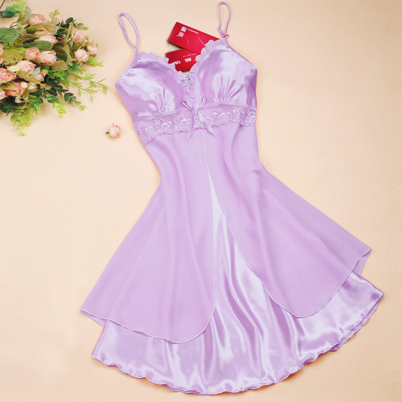 Fashion Sexy Women Lingerie Nightgown Casual Ladies Sleepwear Nightdress Camisola Vestidos Femininos Nightie Women Clothing 27