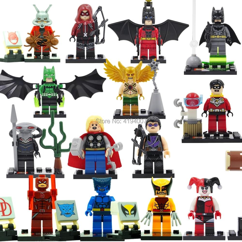 SY Single Sale Figure Super Hero Batman Robin Harley Quinn Aquaman Cyclops Catwoman Building Blocks Models Legoingly Toys 1pc super heroes catwoman robin joker batman movie figures poison harley quinn building blocks compatible with legoingly batman