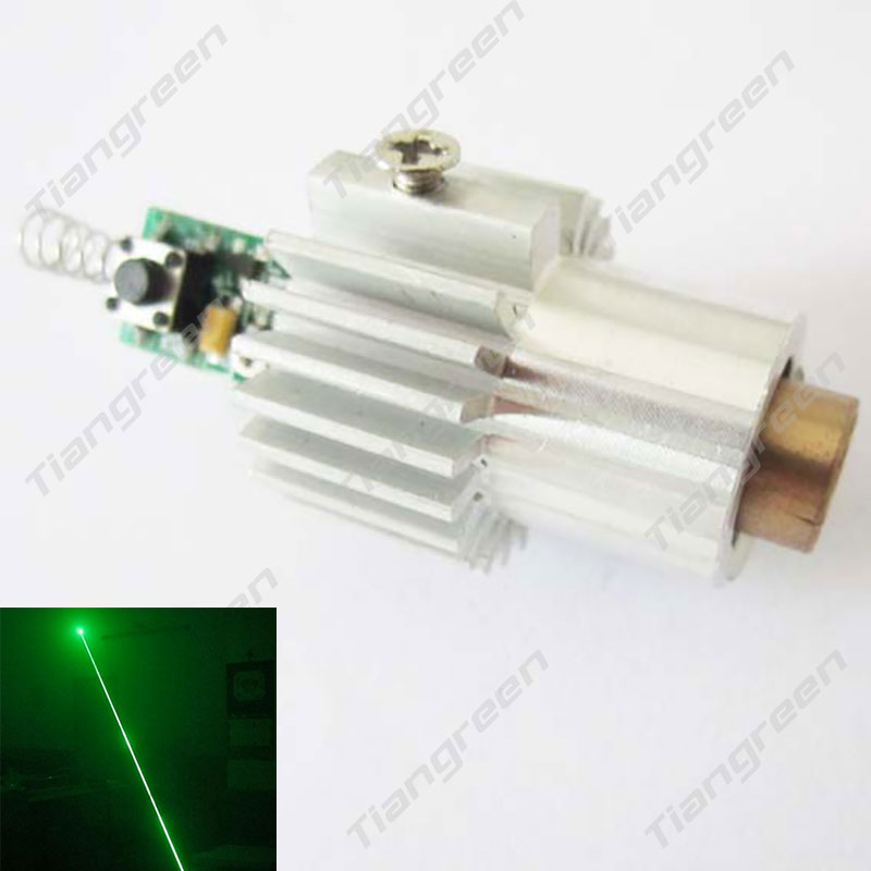 Green Laser Diode Module 532nm 100mW Green Beam with Heatsink and Driver 10mw 532nm green laser diode module size16x60mm tem00 cw dc3v