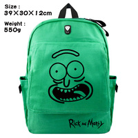 Anime Rick and Morty Backpack Schoolbag Casual Teenagers Men Women Student Canvas School Bags Travel Bags Knapsack Mochila Gift