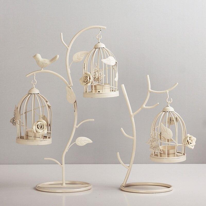 Europe Style Iron Birdcage Candle Holder Creative Candlestick Romantic Dinner Home Wedding Decoration candle holders Lantern