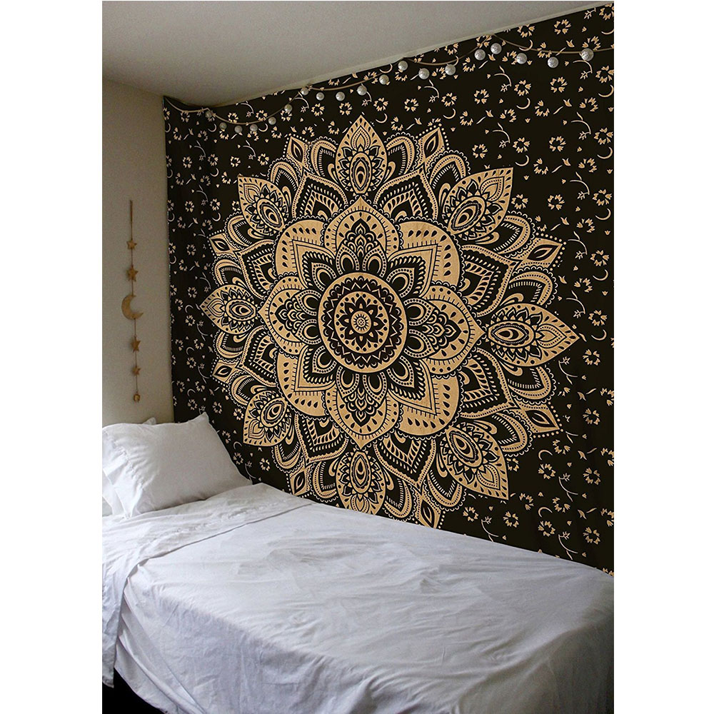 Wall Tapestry Mandala Floral Hanging Carpet Blanket
