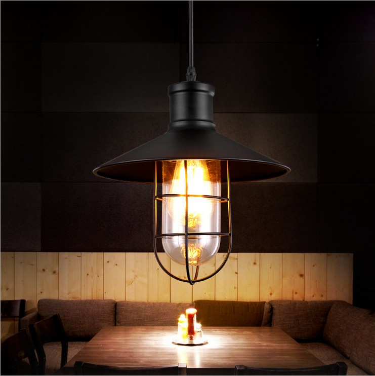 Creative Nordic American country style restaurant hotel bar aisle industry retro creative warehouse Birdcage Chandelier lamps