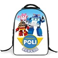 New 2017 Cartoon Robocar Poli School Bags for Boy Cool Primary School Children Backpack Kids Bagpack Mochila Escolar For Age 3-6