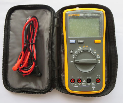 Fast arrival Original FLUKE 15B+ F15B+ Auto Range Digital Multimeter with free carrying bag 100% original fluke 15b f15b auto range digital multimeter meter dmm