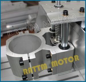 Image 3 - EU ship/free VAT DIY use 6040 CNC Router Engraver Engraving Milling Machine frame Kit Ball Screw & 80mm Aluminum Spindle Clamp