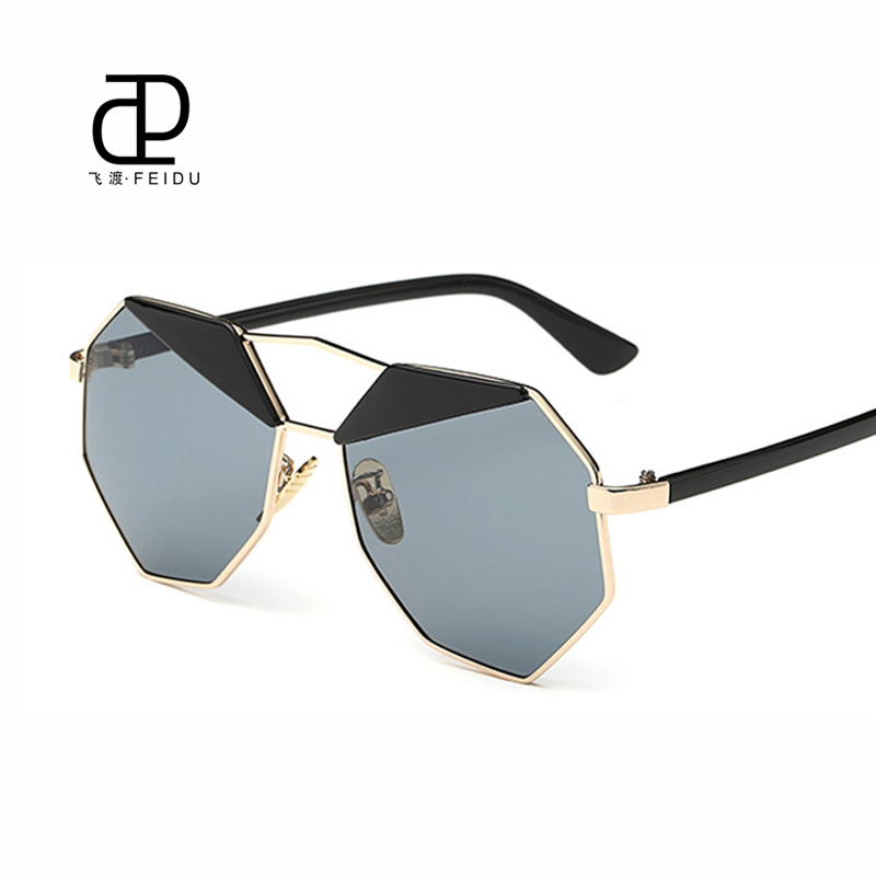FEIDU Women Men Polygon Sun Glasses Couple Models Luxury ...