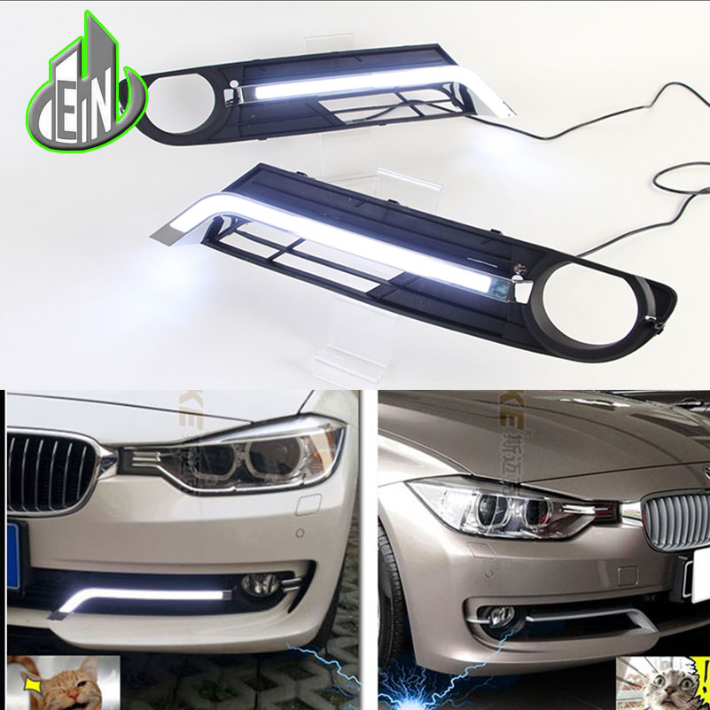 Car Styling DRL Kit Daytime Running Light Bar super bright auto fog lamp daylight For BMW F30 F35 NEW 320i 328i 335i LED car drl kit for geely gleagle gx7 2014 led daytime running light bar super bright auto fog lamp daylight car led drl 12v light