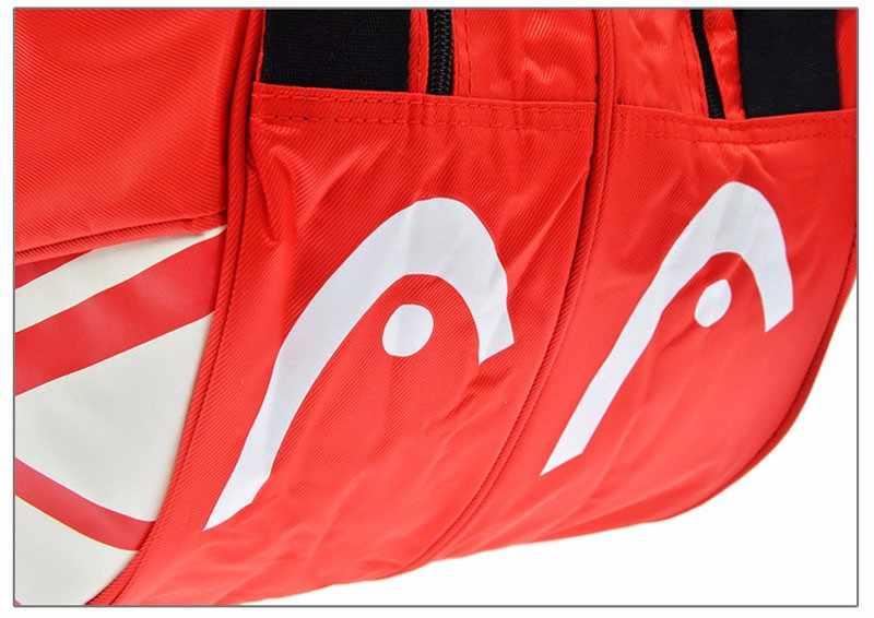 Голова теннисная сумка для теннисных ракеток большой спортивный рюкзак 9 Теннисная ракетка сумка рюкзак для ракеток большой теннис Backapack бадминтон