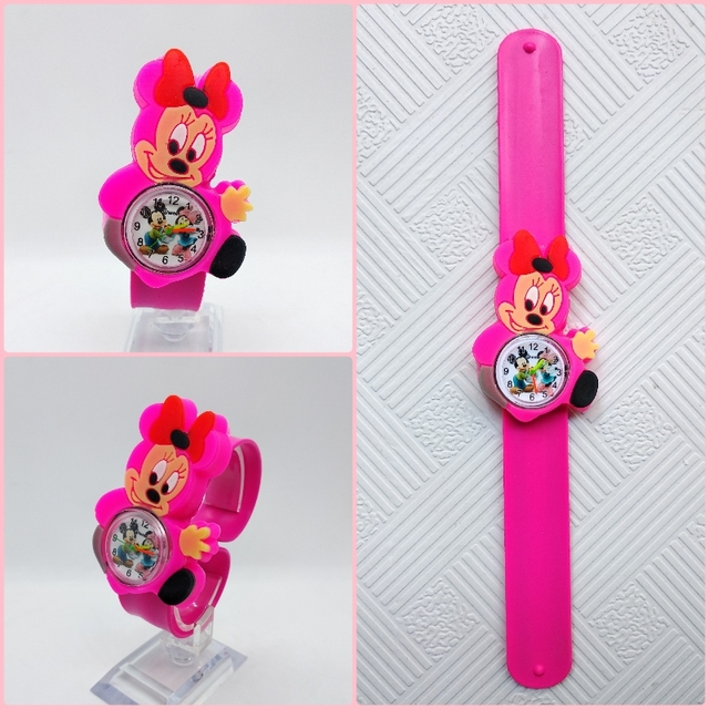 Relogio Infantil Cartoon 3D Life Waterproof Mouse Kids Watches Rubber Quartz Children's Watch for Girls Boys Cute kid Clock Baby