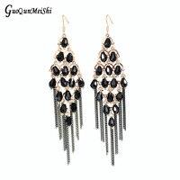 Nouveau Luxe De Mode Bijoux Tendance Marque Balancent Boucles D'oreilles Cristal Perles Pour Femmes Bijoux De Mariage cadeaux livraison gratuite RU8124