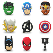 1pcs Avengers Cartoon Icoon Broche Knop Badge PVC Mini Anime Batman Pins Badge Rugzak Kleding Hat Decor Home Decor(China)