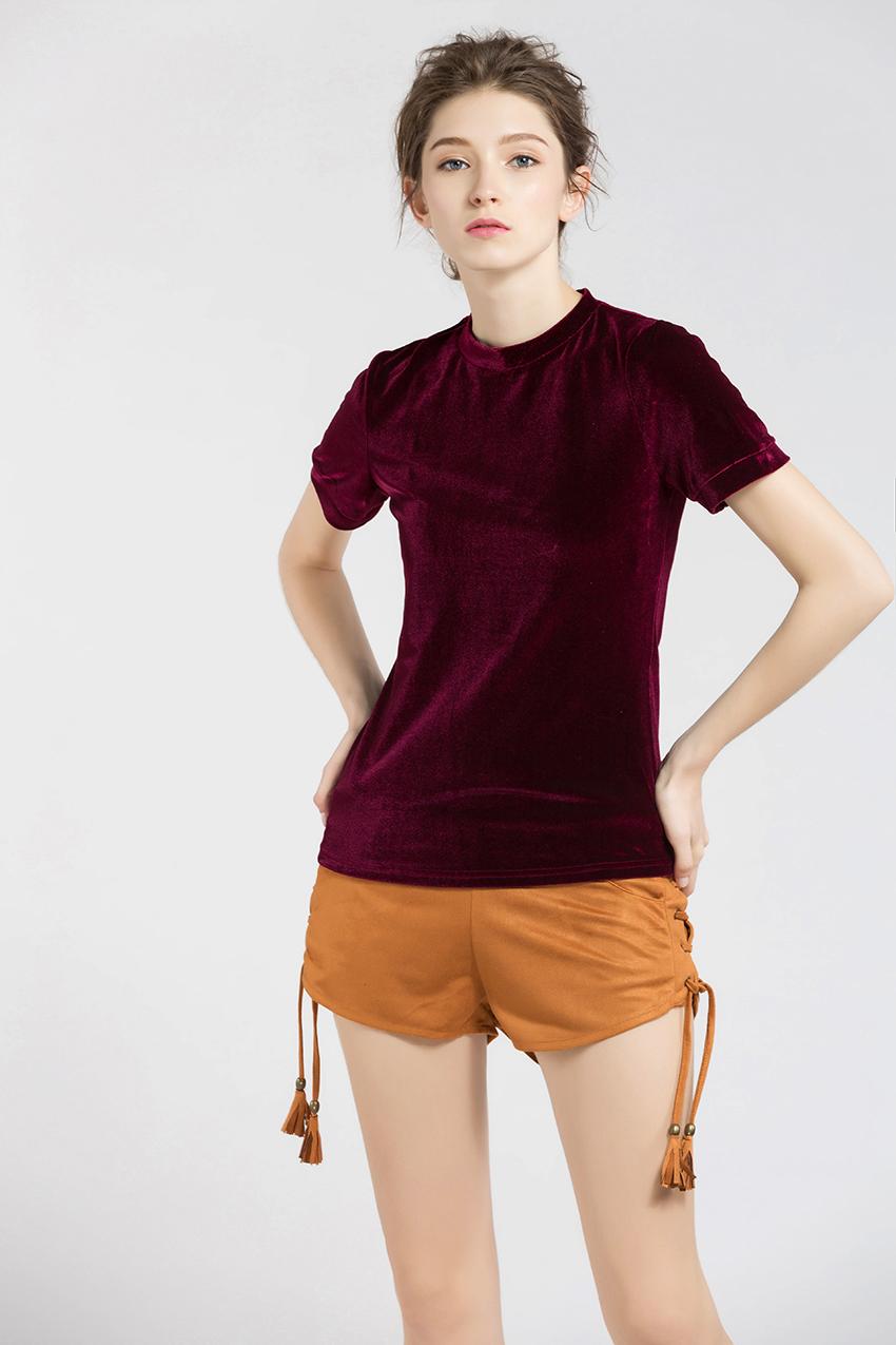HTB1rhd8SXXXXXcmXVXXq6xXFXXXe - Summer Tops Short Sleeve Cotton Velvet T Shirt Women