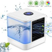 Personal Air Conditioner Cooler Humidifier Mini USB 7 Color Light Desktop Air Cooling Fan Portable Evaporative Air Cooler