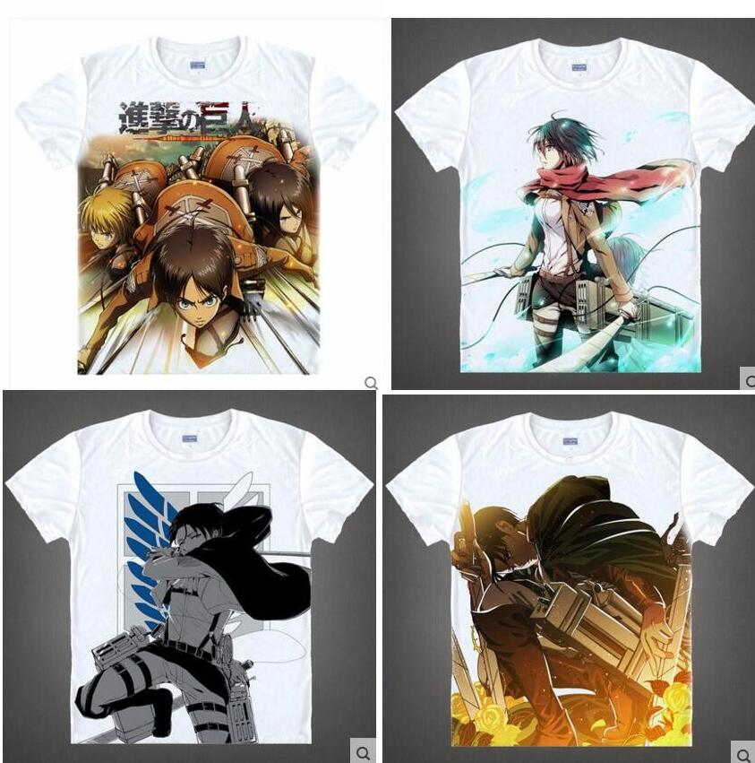 Attack on Titan Anime Shingeki no Kyojin eren Japanese Men Women T-shirt  hero cosplay 19color  tshirt