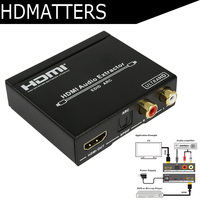 UHD 4K HDMI audio extractor splitter HDMI ARC adapter HDMI to SPDIF 5.1 Channel+L/R with EDID,ARC functions