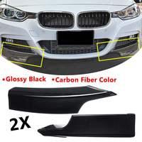 Carbon Fiber /Glossy Black For BMW F30 F35 Sedan 4 Door M Tech M Sport 2012 2013 2014 Splitter Front Bumper Lip Body Kit Spolier