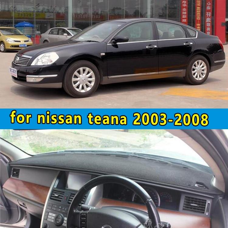 car dashmats car-styling accessories dashboard cover for nissan teana J31 2003 2004 2005 2006 2007 2008 rhd
