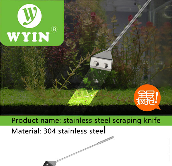 WYIN Stainless Steel Aquarium Cleaner and Fish Tank Algae Scraper Blade for Water Plant and Grass Cleaning 9