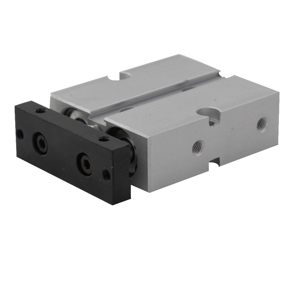 Dual Action Pneumatic Valve Double Shaft Rod 16mm Bore 5/10/15/20/25/30/35/40/45/50/60mm Stroke Pneumatic Air Cylinder