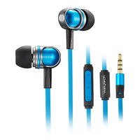 WALLYTECH Nightingale Flat Cable Stereo in Ear Earphone For iOS iPhone 5/5s/6/6plus/6s For iPad earbuds With Microphone