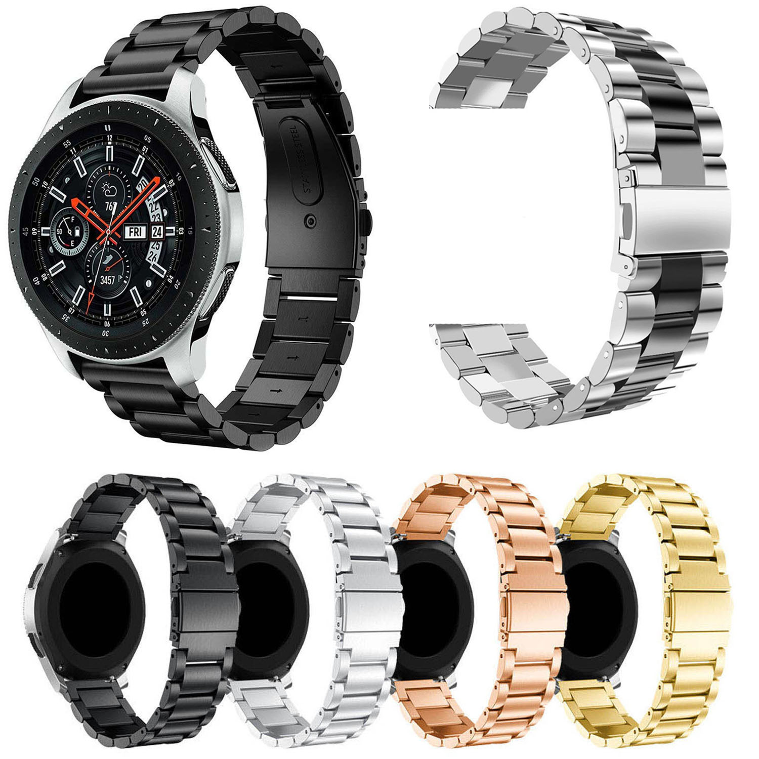 22mm Stainless Steel Watch Bands For Samsung Galaxy 46mm Bracelet Strap For Samsung Gear S3 Classic/Frontier Sport Band