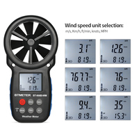 Digital Anemometer Wind Speed Meter Weather Meter Chill Indicator/Temperature Humidity/Barometric Pressure/Altitude Meter