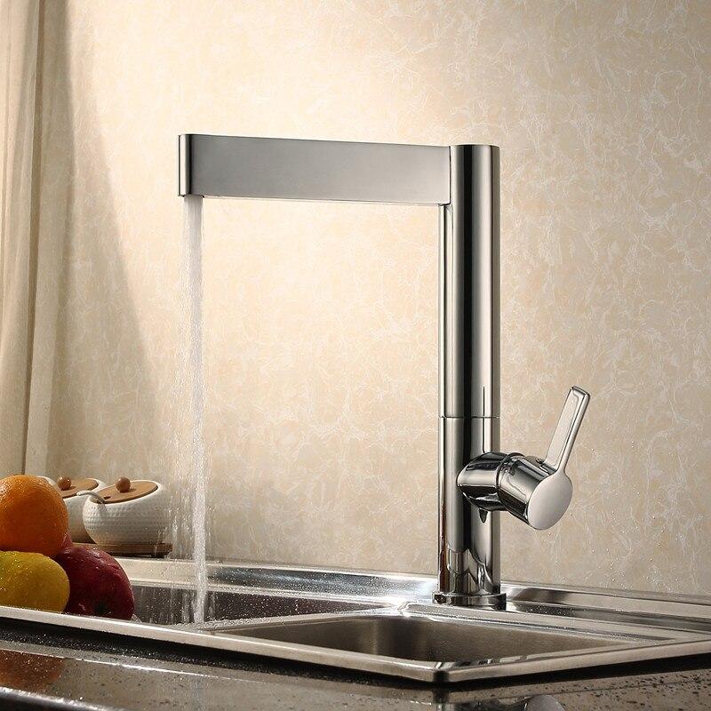 Bagnolux 100% Solide Messing 360 Grad Swivel Hohe Qualität Heiße Und Kalte Küche Wasserhahn Mit Hebel Griff Matt Schwarz Mixer tippen