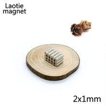 100 шт. 2×1 мм неодимовые магнитные материалы постоянный магнит N35 NdFeB мини-Small Round Disc мощная diy игрушки тонкий диск
