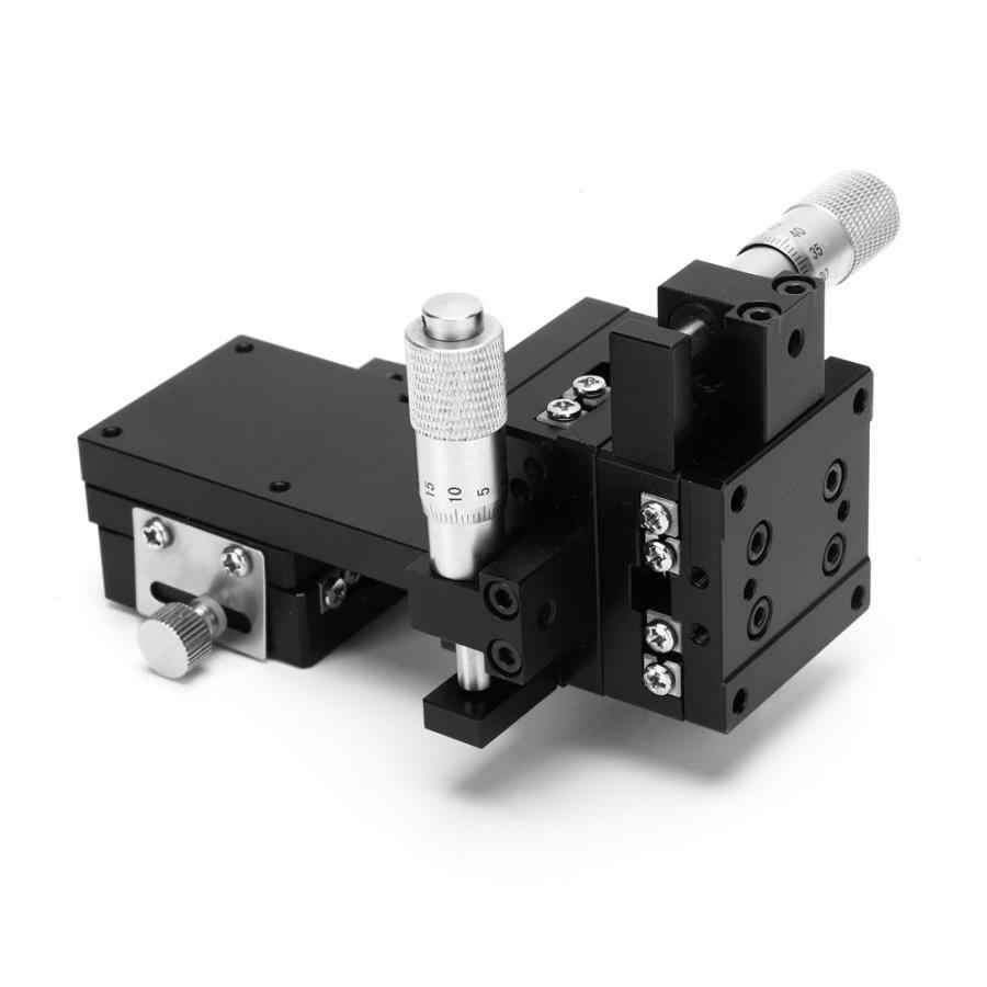 الحركة الخطية انزلاق الجدول SEMXYZL40-AS XYZ عالية دقة عبر الأسطوانة الحركة الخطية دليل المرحلة انزلاق الجدول 40*40 مللي متر