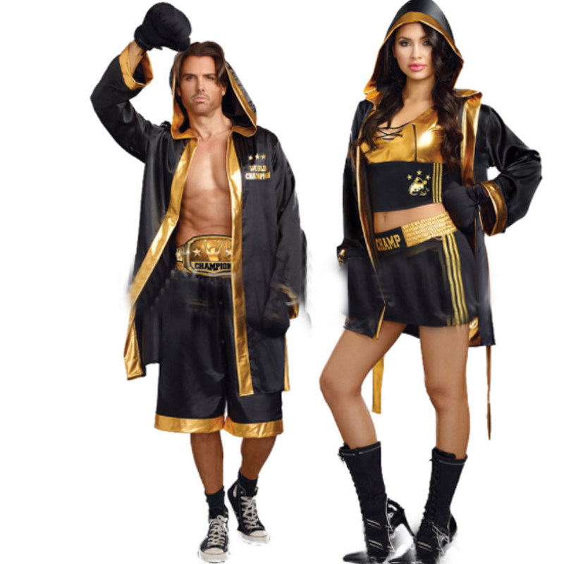 halloween costume adult men and women boxers sexy cosplay womens suit cloak cape adult costume love